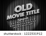 retro style font  old movie... | Shutterstock .eps vector #1222531912