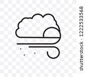 blizzard vector linear icon...   Shutterstock .eps vector #1222533568