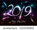 new years banner for 2019 with...   Shutterstock .eps vector #1222535842