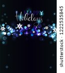 holiday party invitation with...   Shutterstock .eps vector #1222535845