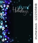 holiday party invitation with...   Shutterstock .eps vector #1222535848