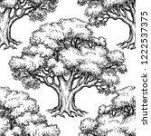 seamless pattern. ink sketch of ... | Shutterstock .eps vector #1222537375