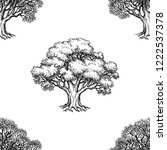 seamless pattern. ink sketch of ... | Shutterstock .eps vector #1222537378