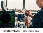 marine navigational officer or...   Shutterstock . vector #1222537462