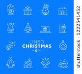 lineo white   christmas line... | Shutterstock .eps vector #1222541452