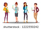 group of happy women with... | Shutterstock .eps vector #1222550242