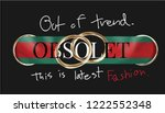 slogan with ribbon and golden... | Shutterstock .eps vector #1222552348