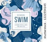 swim school emblem over... | Shutterstock .eps vector #1222554145
