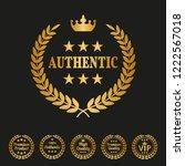 authentic laurel wreath on... | Shutterstock .eps vector #1222567018