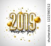 2019 happy new year... | Shutterstock . vector #1222580212