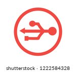 3d usb symbol over white.... | Shutterstock .eps vector #1222584328