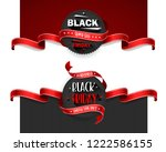 black friday sale flyers set... | Shutterstock .eps vector #1222586155