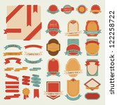 set of vector labels | Shutterstock .eps vector #122258722