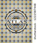 atlas arabic style badge....   Shutterstock .eps vector #1222587448