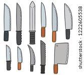 vector set of knives | Shutterstock .eps vector #1222605538