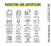 marketing and advertising line... | Shutterstock .eps vector #1222612138