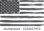 black and white american flag... | Shutterstock .eps vector #1222617472