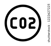 carbon dioxide formula | Shutterstock .eps vector #1222627225