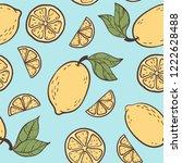 beautiful seamless doodle... | Shutterstock .eps vector #1222628488