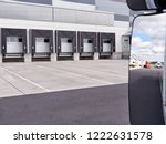 loading and unloading ramps at... | Shutterstock . vector #1222631578