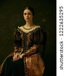 Portrait Of A Girl Wearing A ...