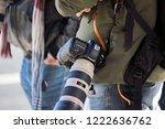 Close Up Of A Canon Camera At...