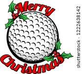 golf ball surrounded by the... | Shutterstock .eps vector #1222638142