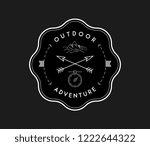 outdoor exploration adventure... | Shutterstock .eps vector #1222644322