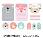 pastel printable with bear... | Shutterstock .eps vector #1222646152