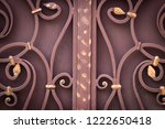 wrought iron gates  ornamental... | Shutterstock . vector #1222650418