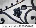 wrought iron gates  ornamental... | Shutterstock . vector #1222650442