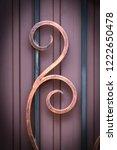 wrought iron gates  ornamental... | Shutterstock . vector #1222650478