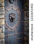 wrought iron gates  ornamental... | Shutterstock . vector #1222651402