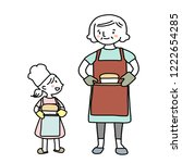 grandmother and granddaughter...   Shutterstock .eps vector #1222654285