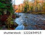 autumn forest river flow...   Shutterstock . vector #1222654915