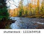 autumn forest river view. wild... | Shutterstock . vector #1222654918