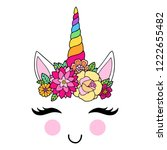 lovely vector drawing of the... | Shutterstock .eps vector #1222655482