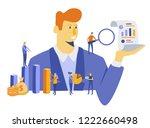 financial administration... | Shutterstock .eps vector #1222660498