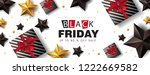 black friday sale banner layout ... | Shutterstock .eps vector #1222669582
