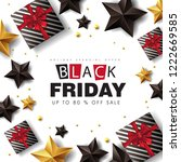 black friday sale banner layout ... | Shutterstock .eps vector #1222669585
