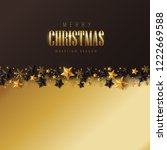 vector merry christmas and... | Shutterstock .eps vector #1222669588
