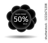 black friday cheerful banner in ... | Shutterstock .eps vector #1222671208