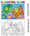 Coloring Book Butterfly Theme ...