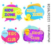 kids zone banners. colorful... | Shutterstock .eps vector #1222678528