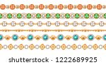 colorful gemstones and chains... | Shutterstock .eps vector #1222689925