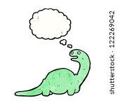 funny cartoon dinosaur | Shutterstock .eps vector #122269042