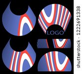set of abstract geometric... | Shutterstock .eps vector #1222691338