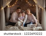 cute beautiful family with two... | Shutterstock . vector #1222693222
