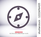 compass vector icon | Shutterstock .eps vector #1222696435