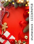 christmas gift and holidays... | Shutterstock . vector #1222696918